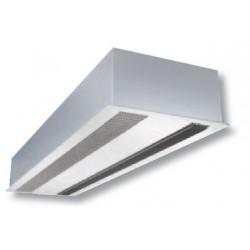 Cortina de aire con calefacción encastrable - 100 cm