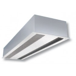 Cortina de aire con calefacción encastrable - 150 cm