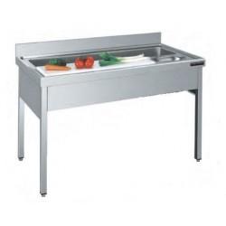 Mesa de preparación de verduras