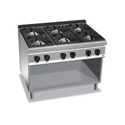 Cocina 6 fuegos a gas - Maxima 900 de Berto's