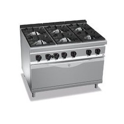 Cocina 6 fuegos a gas amb forn maxi - Maxima 900 de Berto's