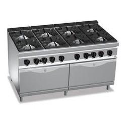 Cocina 8 fuegos a gas con 2 hornos - Maxima 900 de Berto's