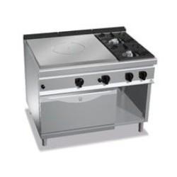 Cocina coup de feu con 2 fuegos y horno Berto's Maxima 900