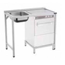 Fregadero 1 cuba con espacio para lavavajillas - fondo 50