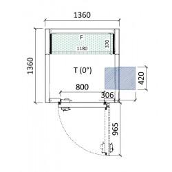 Cámara conservación 1360 x 1360 x 2280 mm