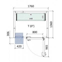Cámara conservación 1760 x 1360 x 2280 mm