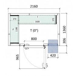 Cámara conservación 2160 x 1360 x 2280 mm