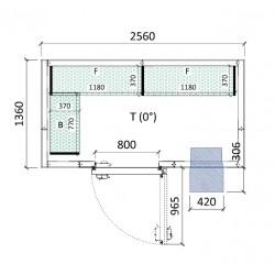 Cámara conservación 2560 x 1360 x 2280 mm