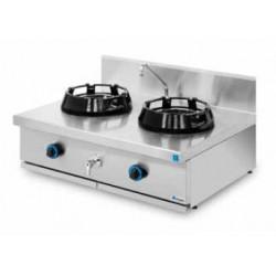 Cocina wok sobremesa 2 quemadores PAV/02-2C-WL