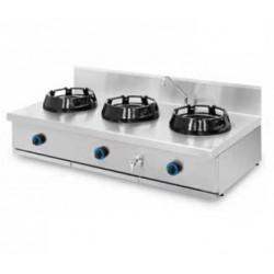 Cocina wok sobremesa 3 quemadores