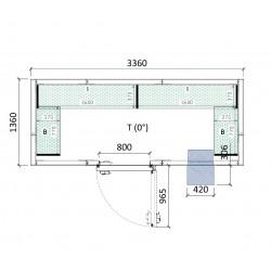 Cámara conservación 3360 x 1360 x 2280 mm