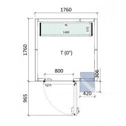 Cámara conservación 1760 x 1760 x 2280 mm