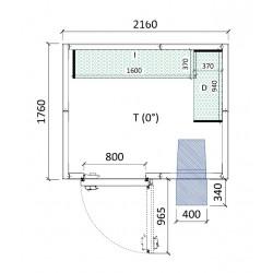 Cámara conservación 2160 x 1760 x 2280 mm