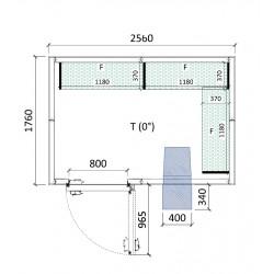 Cámara conservación 2560 x 1760 x 2280 mm