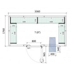 Cámara conservación 3360 x 1760 x 2280 mm