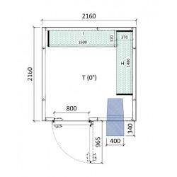 Cámara conservación 2160 x 2160 x 2280 mm