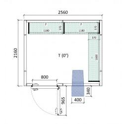 Cámara conservación 2560 x 2160 x 2280 mm