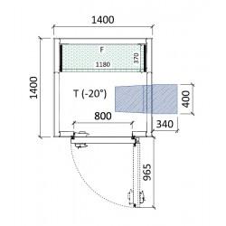 Cámara congelación 1400 x 1400 x 2320 mm