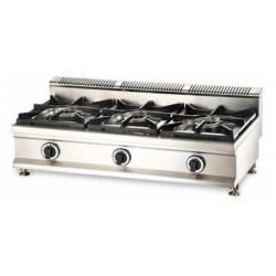 Cocina a gas 3 fuegos sobremesa - CQL-3FH