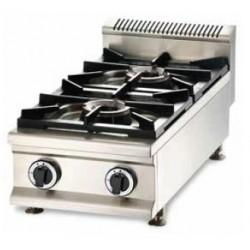 Cocina a gas 2 fuegos sobremesa - CQL-2FV