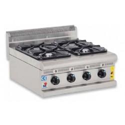Cocina a gas 4 fuegos sobremesa - CG60600