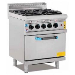 Cocina 4 fuegos a gas con...