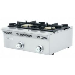 Cocina a gas 2 fuegos - fondo 50