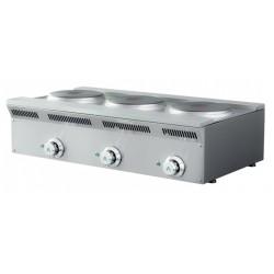 Cocina eléctrica 3 fuegos - fondo 50