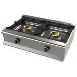 Cocina a gas 2 fuegos - fondo 55