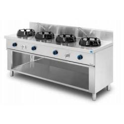 Cocina wok de pie 4 quemadores MOB/04-4C-WL