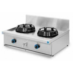 Cocina wok sobremesa, encimera con agua 2 quemadores PAV/02-2C-WA