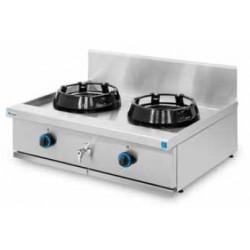 Cocina wok sobremesa, encimera con agua 2 quemadores
