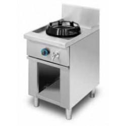 Cocina wok de pie, encimera con agua 1 quemador MOB/01-1C-WA