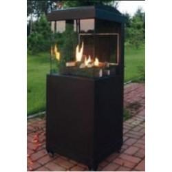 Estufa a gas para exterior con cristal térmico a 3 caras