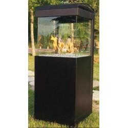Estufa a gas para exterior con cristal térmico a 4 caras