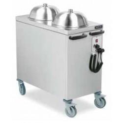 Carro dispensador de platos calientes