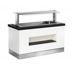 Buffet self-service Janus cuba fría ventilada - fondo 850 mm