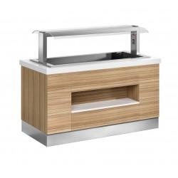 Buffet self-service Janus cuba fría ventilada - fondo 1050 mm