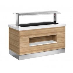 Buffet self-service Janus vitrocerámica - fondo 1050 mm