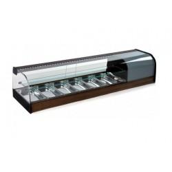 Vitrina expositora de tapes refrigerada amb cubetes - estant intermig