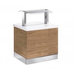 Buffet self-service Janus neutro - fondo 850 mm