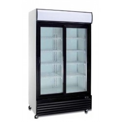 Expositor vertical conservación 2 puertas correderas  - 1000 TN PC
