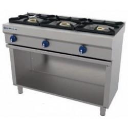 Cocina a gas 3 fuegos con soporte CG-530 - Repagas