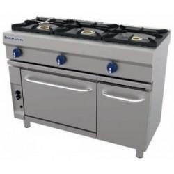 Cocina a gas 3 fuegos con horno CG-530 - Repagas
