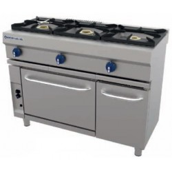 Cocina a gas 3 fuegos con horno CG-531 - Repagas