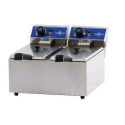 Freidora eléctrica doble cuba  2 x 3,5 L - FRY 4 + 4