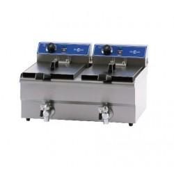 Freidora eléctrica con grifo de vaciado 2 x 6 L - FRY 9 + 9