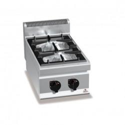 Cocina a gas 2 fuegos sobremesa - Berto's Macros 700