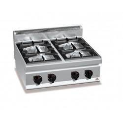 Cocina a gas 4 fuegos sobremesa - Berto's Macros 700