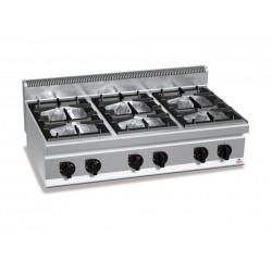 Cocina a gas 6 fuegos sobremesa - Berto's Macros 700